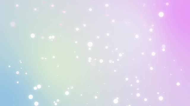 Faded white orb snow circle in pastel background. video