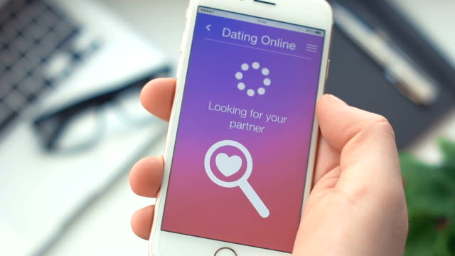 Failed searching for partner on dating app on the smartphone video