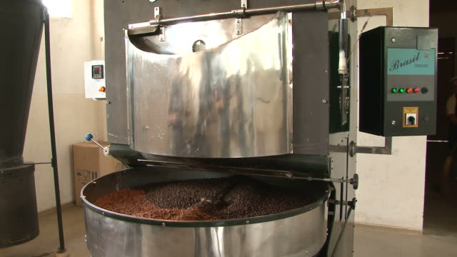 Fairtrade coffee beans cooling down after roasted video