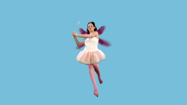 fairy flying + alpha A fairy fly and turn. fairy stock videos & royalty-free footage
