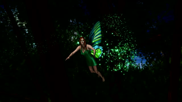 Fairy Flying in Forest HD1080 Fairy Flying in Forest HD1080 fairy stock videos & royalty-free footage