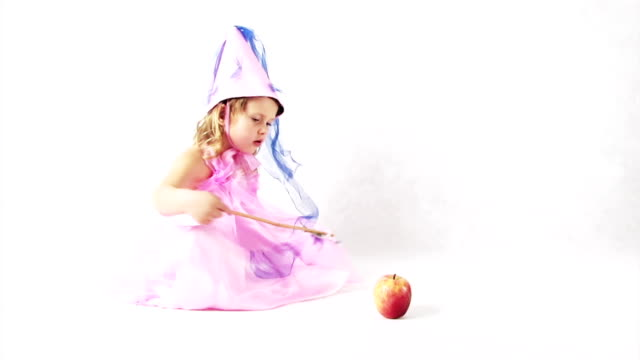 fairy making an apple disappear Click the picture below to watch our entire fairy collection: princess stock videos & royalty-free footage