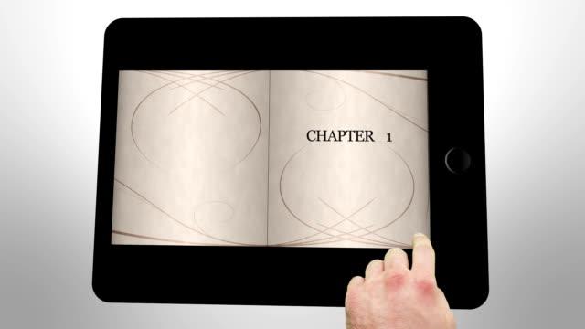 Fairy tale animation on digital tablet video