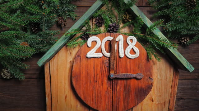 Fairytale forest Christmas clock video