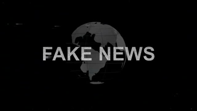 fake news title with glitches - newspaper стоковые видео и кадры b-roll