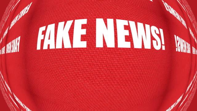 Fake News Warning Sensationalist Media Hoax Headlines Political Misinformation Propaganda Lightning Concept video