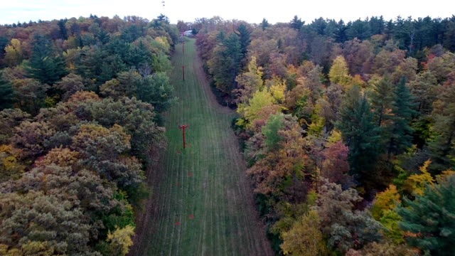 Fall colors on the ski lift video