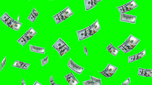 stockvideo's en b-roll-footage met dalende 100 dollar - money