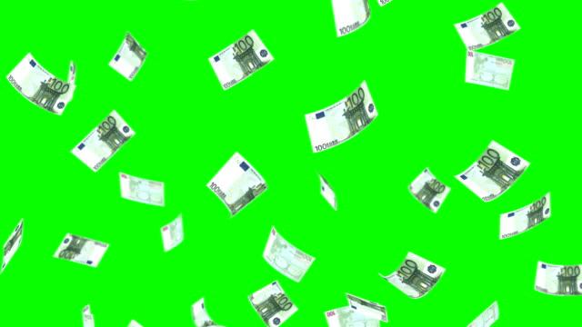 cubi 100 euro - simbolo dell'euro video stock e b–roll