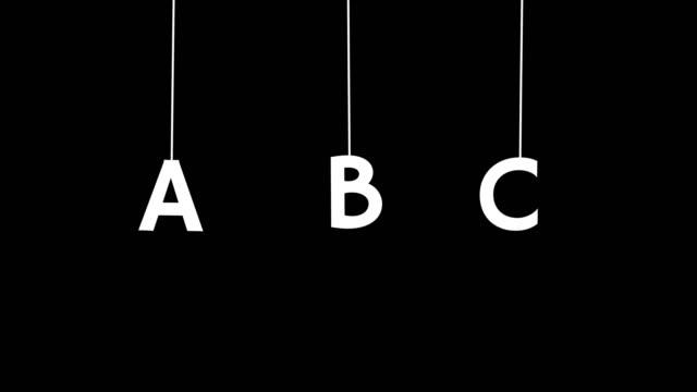 4K falling alphabet - video