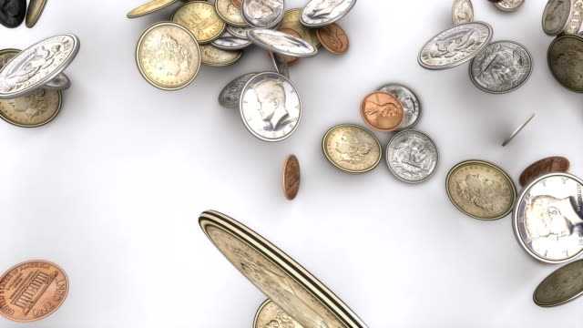 Falling American Coins, Top View video