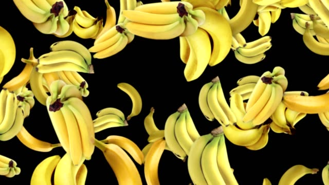 Falling BANANAS Background, Loop,  60fps, with Alpha Channel video