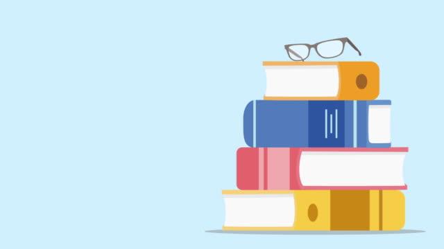 fallande bok och läsa gräs animation - digital reading child bildbanksvideor och videomaterial från bakom kulisserna