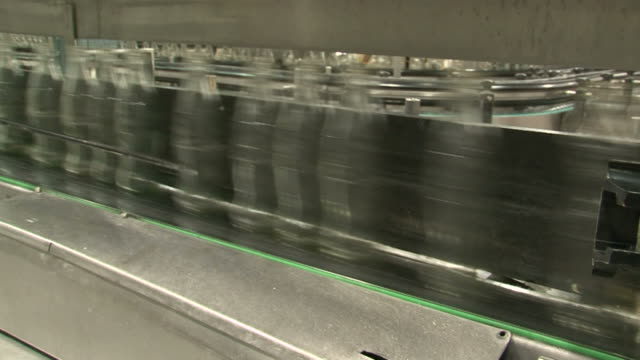Falling bottle production line video