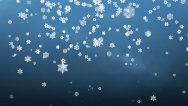 vídeos y material grabado en eventos de stock de falling cartoon snow - blue loop - snowflakes