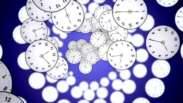 vidéos et rushes de animation chute de horloges, concept de temps, rendu, fond, avec un canal alpha, loop - cadran