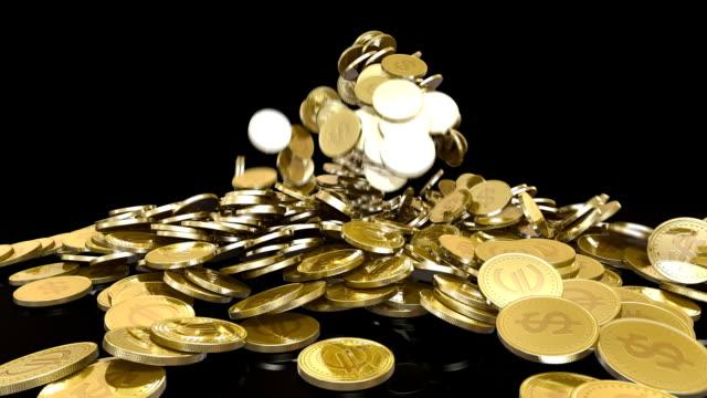HD: Falling coins + Alpha video