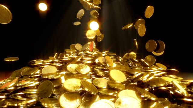 hd: падающие монеты - монета стоковые видео и кадры b-roll