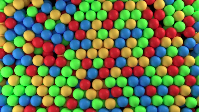 falling colorful balls - tasty movie filmów i materiałów b-roll