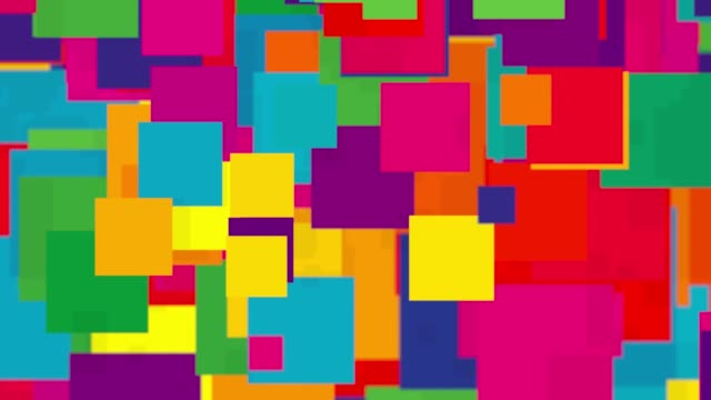 Falling colorful squares