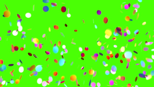 Falling Confetti on a Green and Black Backgrounds video