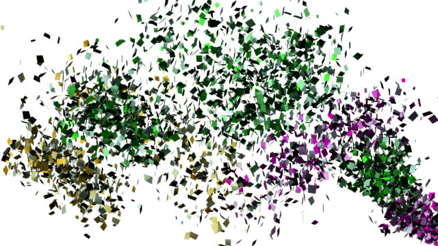 Falling confetti on the white background video