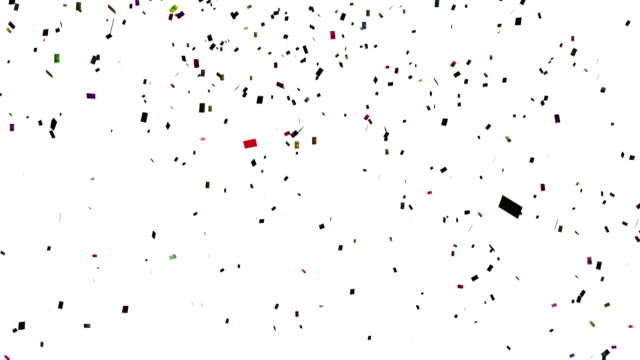 Falling confetti with alpha channel video