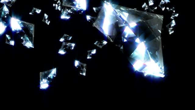 falling diamonds - bling bling stok videoları ve detay görüntü çekimi