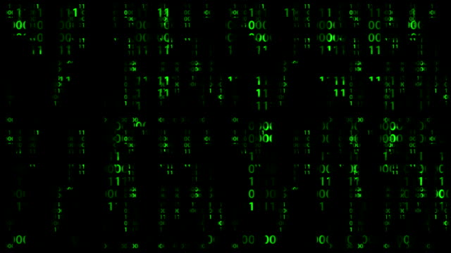 Falling Digital Numbers, loop video