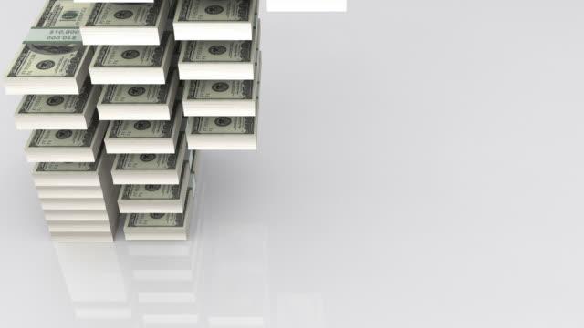 cubi banconote dollaro - bonus video stock e b–roll