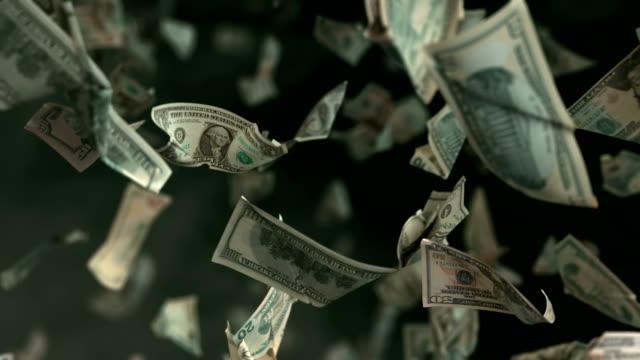 Falling Dollar money in 4K Loopable