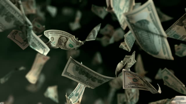 Falling Dollar money in 4K Loopable High quality falling Dollar banknotes in 4K. Video is Loopable paper currency stock videos & royalty-free footage