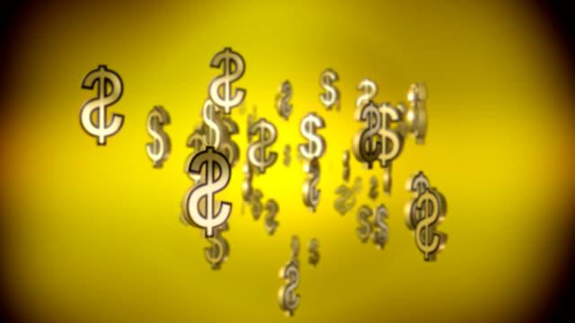 falling dollar signs video