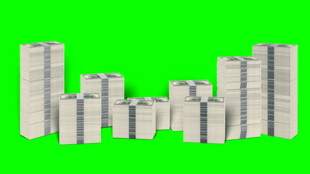 Falling Dollar Stacks Green-Box paper currency stock videos & royalty-free footage