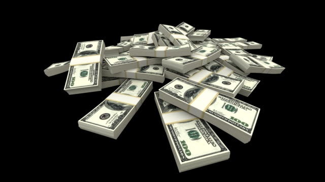 Falling Dollars Packs - USD (with Matte)  money bills and currency stock videos & royalty-free footage