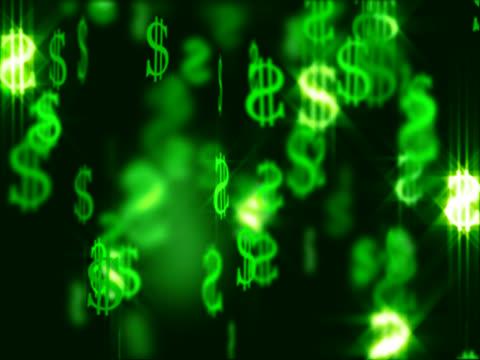 vídeos y material grabado en eventos de stock de caída de dólares (ntsc - accesorio financiero