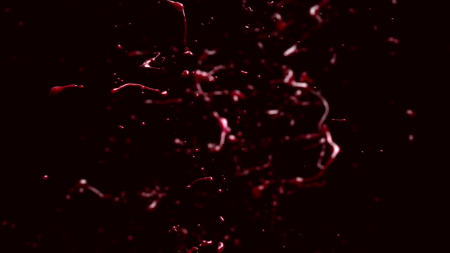 Falling Drops. Ketchup, Blood, Red Paint. video