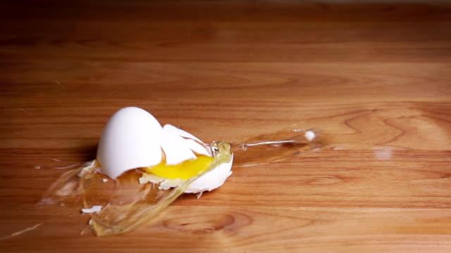 Falling Egg Slow Motion video