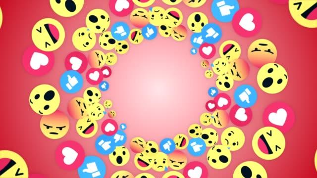 falling emoji signs animation, rendering, background, with alpha channel, loop - wytworzony przedmiot filmów i materiałów b-roll