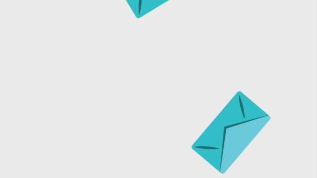 fallende umschlag e-mail-kommunikation - briefkasten stock-videos und b-roll-filmmaterial