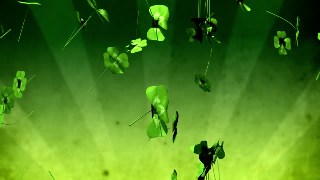 Falling Four Leaf Clovers video