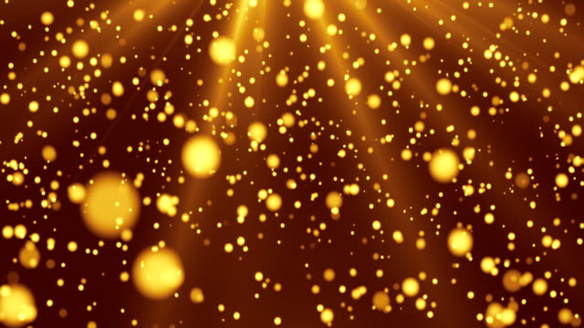 Falling gold particles. Perfectly usable for a wide variety of topics like Christmas