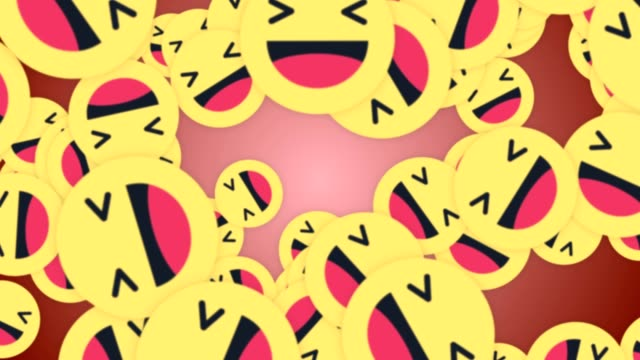 fallende haha lächelnd emoji zeichen animation, rendern, hintergrund, mit alpha-kanal, schleife - smiley stock-videos und b-roll-filmmaterial