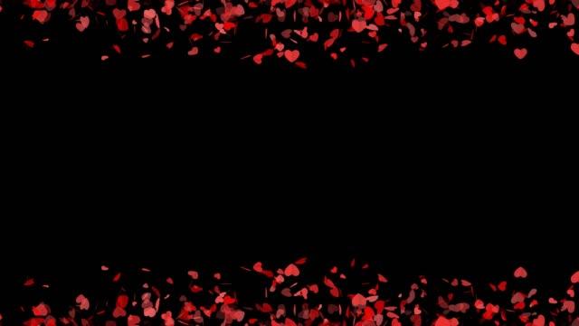 falling heart background for wedding, invitation - simbolo concettuale video stock e b–roll