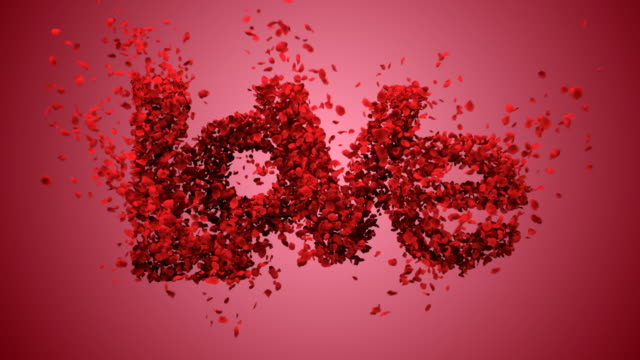falling in love with beautiful red background (concept) - valentines day stock videos and b-roll footage
