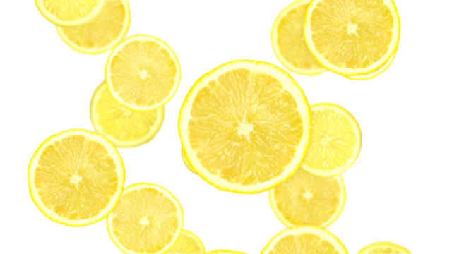 Falling lemon slices video