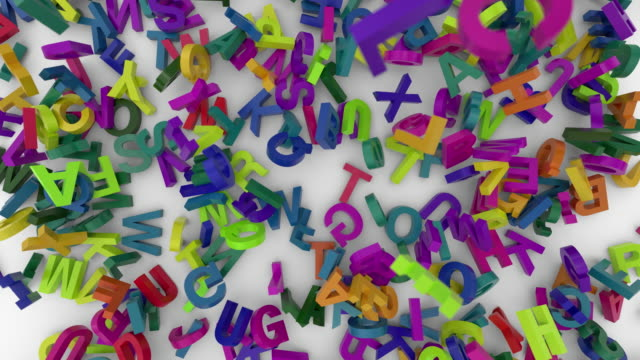 falling letters alphabet falling letters alphabet abc 4K k icon stock videos & royalty-free footage
