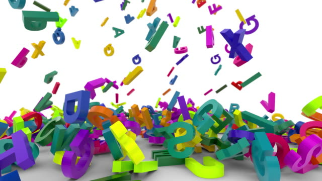 falling letters alphabet falling letters alphabet abc 4K white background k icon stock videos & royalty-free footage