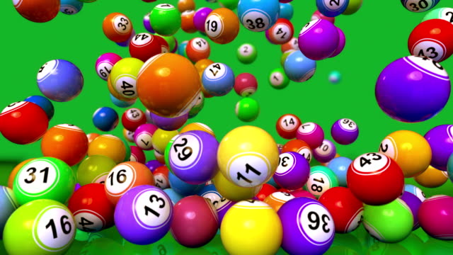 hd: cadere lotto/animazione di palline bingo - bingo video stock e b–roll