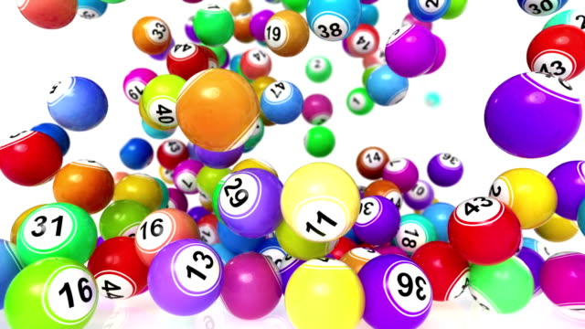HD: Falling Lotto/Bingo Balls animation video